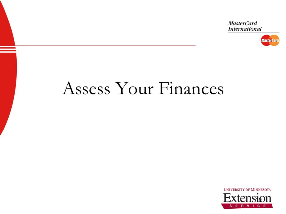 10 Assess Your Finances