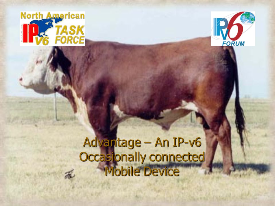 Advantage – An IP-v6 Occasionally connected Mobile Device