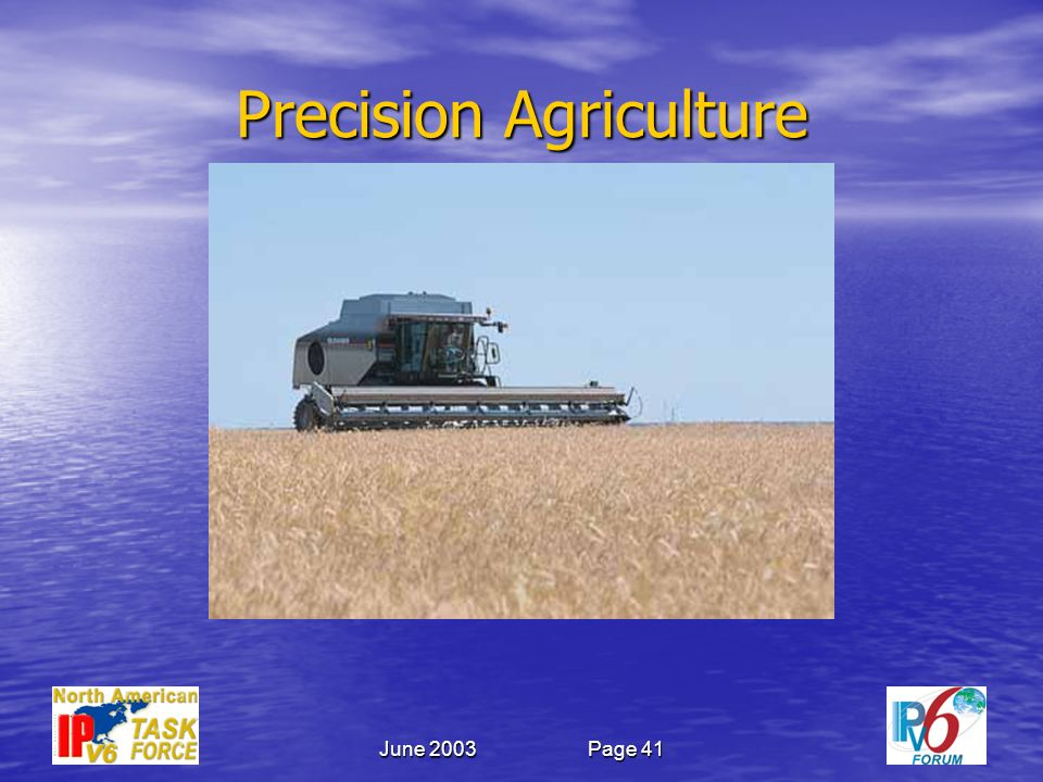 June 2003Page 41 Precision Agriculture