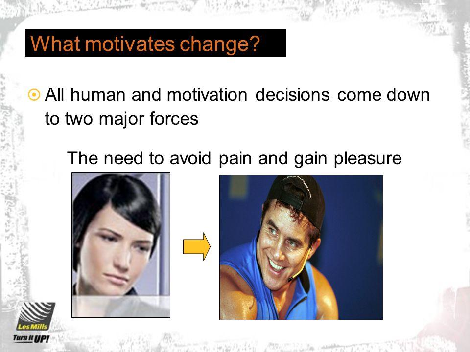 What motivates change.