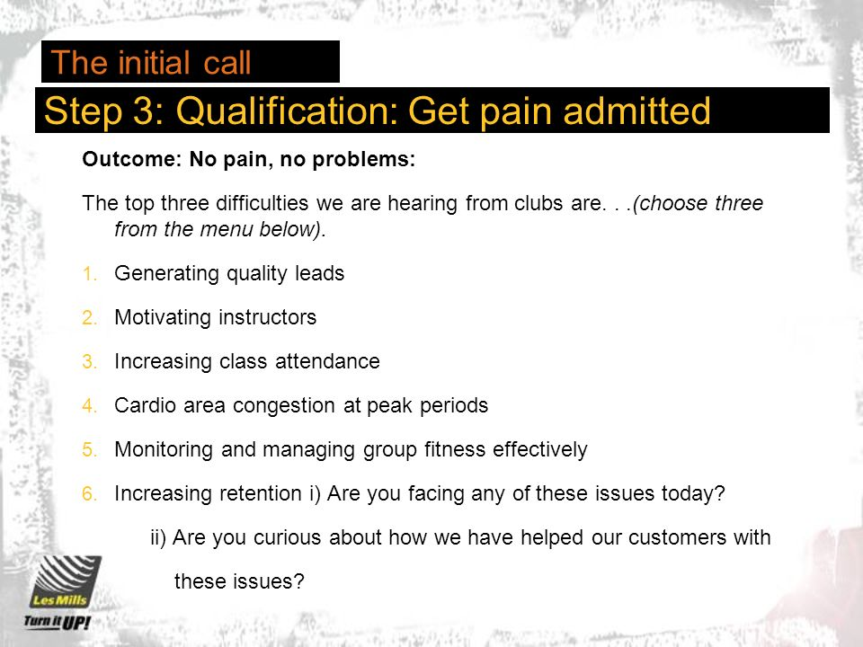 Outcome: No pain, no problems: The top three difficulties we are hearing from clubs are...(choose three from the menu below).