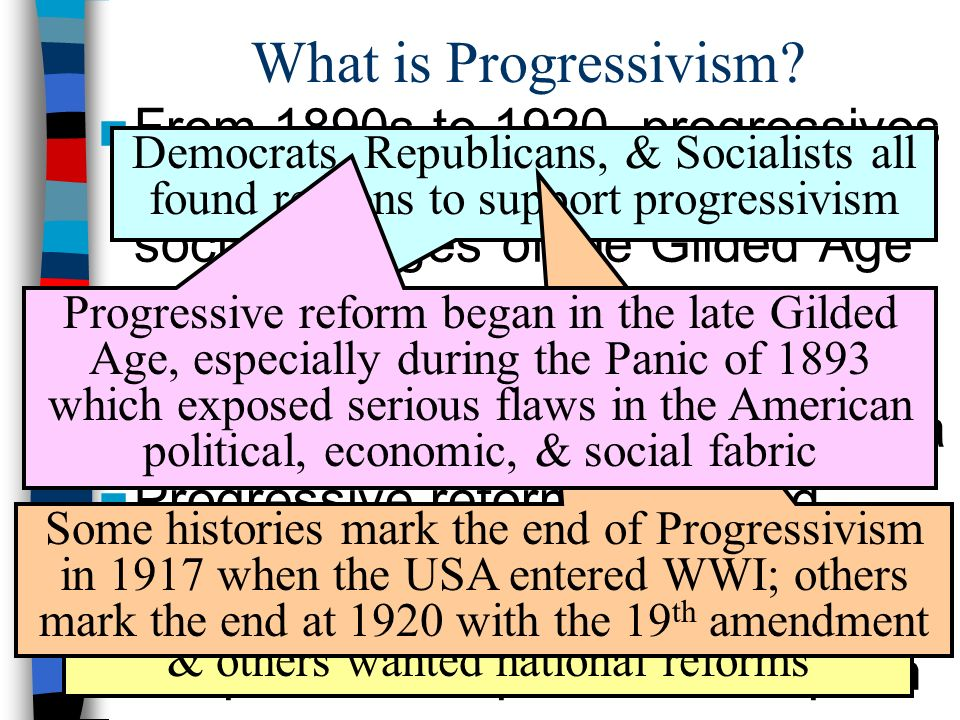 essay questions on progressivism Progressivism essay while the free essays can give you inspiration for writing, they cannot be used 'as is' because they will not meet your assignment's requirements us history progressivism the period of time between the spanish-american war and world war i is known as the progressive era.