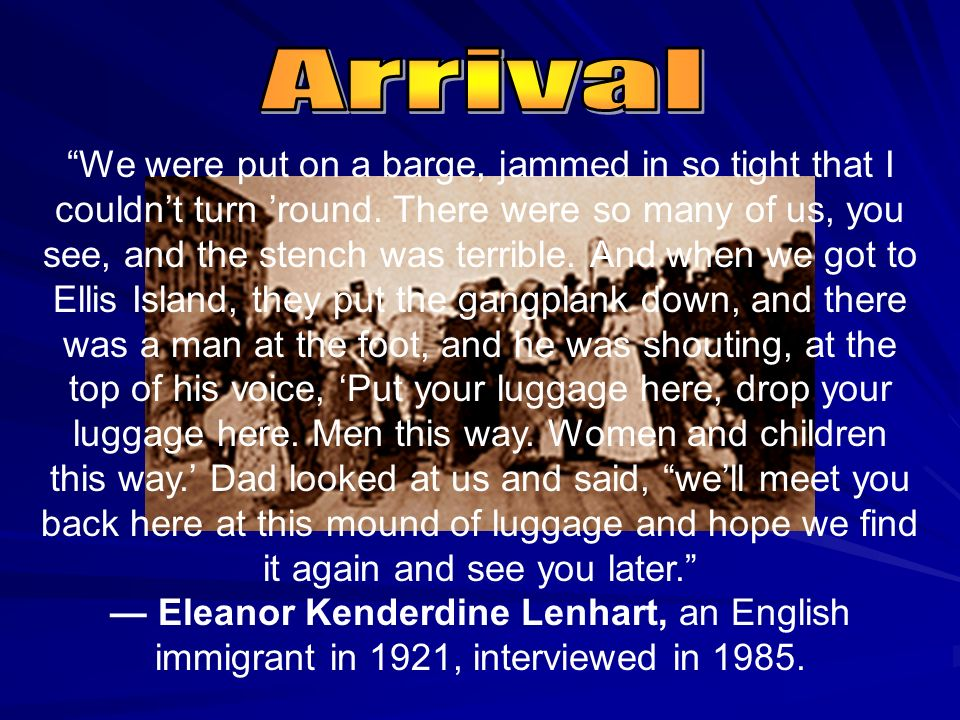 Immigrants sailed to America in hopes of carving out new destinies for themselves. Most were fleeing religious persecution, political oppression and e