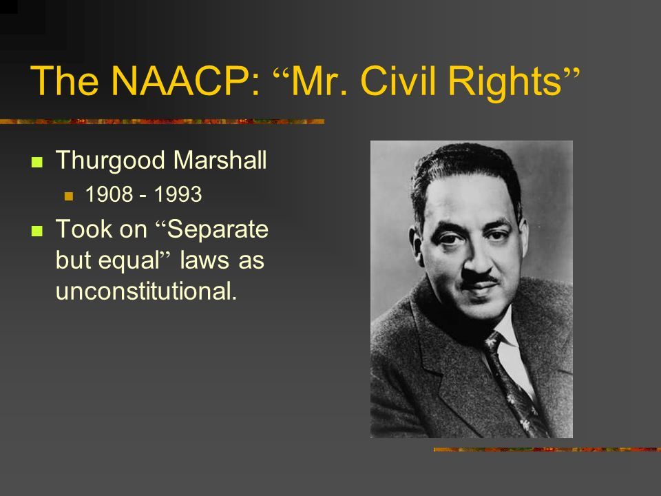 What eventually happened to Thurgood Marshall.
