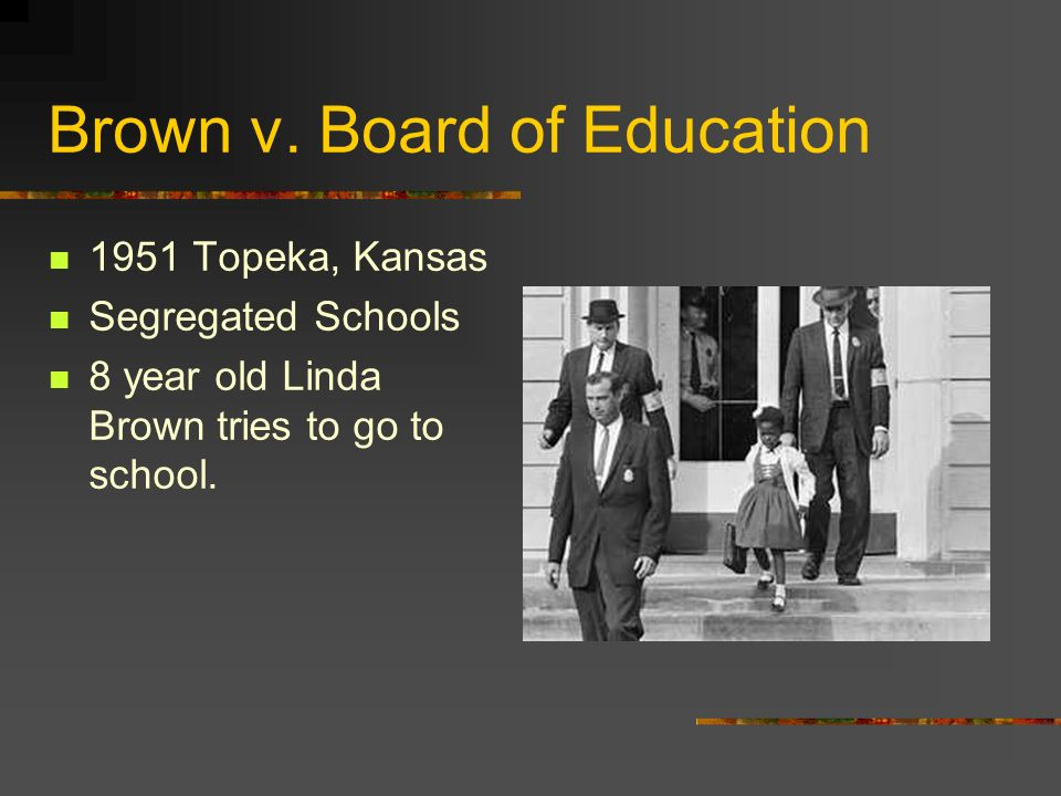 1954: US Supreme Court rules on Brown v.Board of Education Unanimous decision.