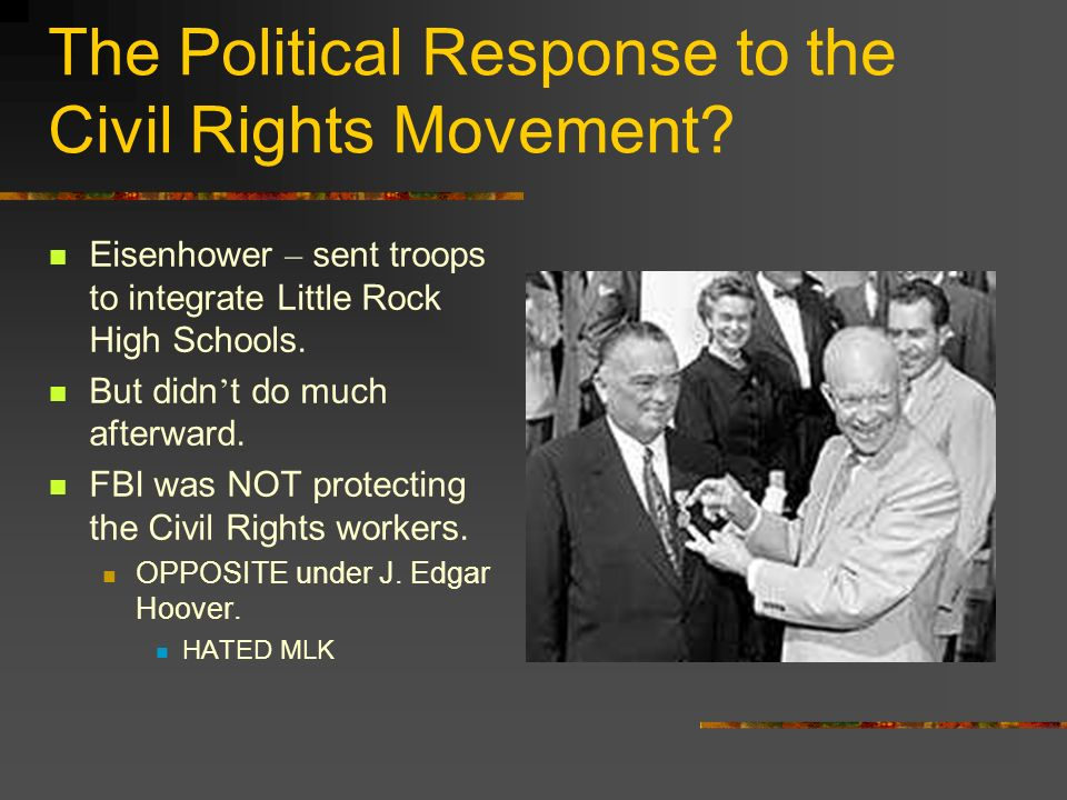 The Political Response to the Civil Rights Movement.