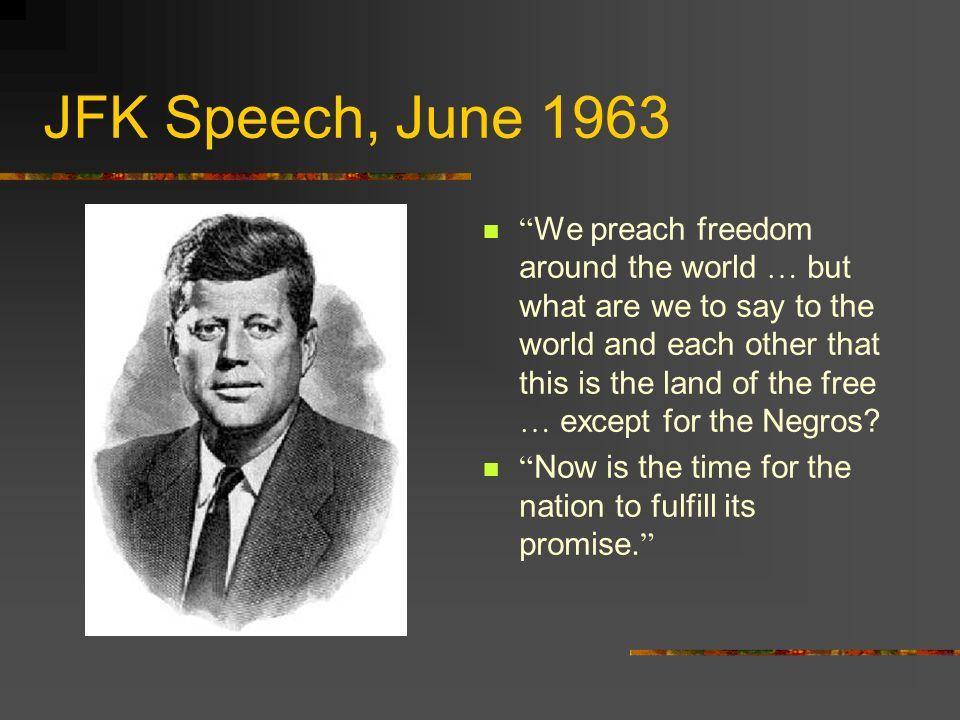 Reaction to JFK s Speech.Klan murder of Medgar Evers.