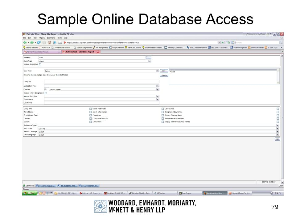 79 Sample Online Database Access
