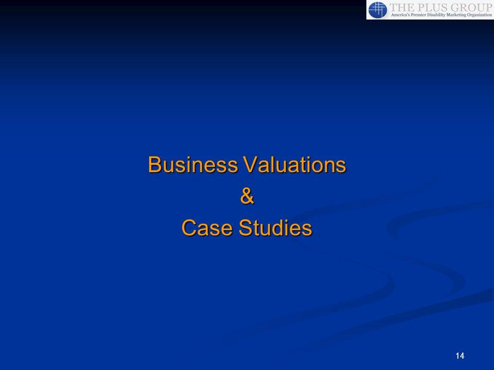 14 Business Valuations & Case Studies