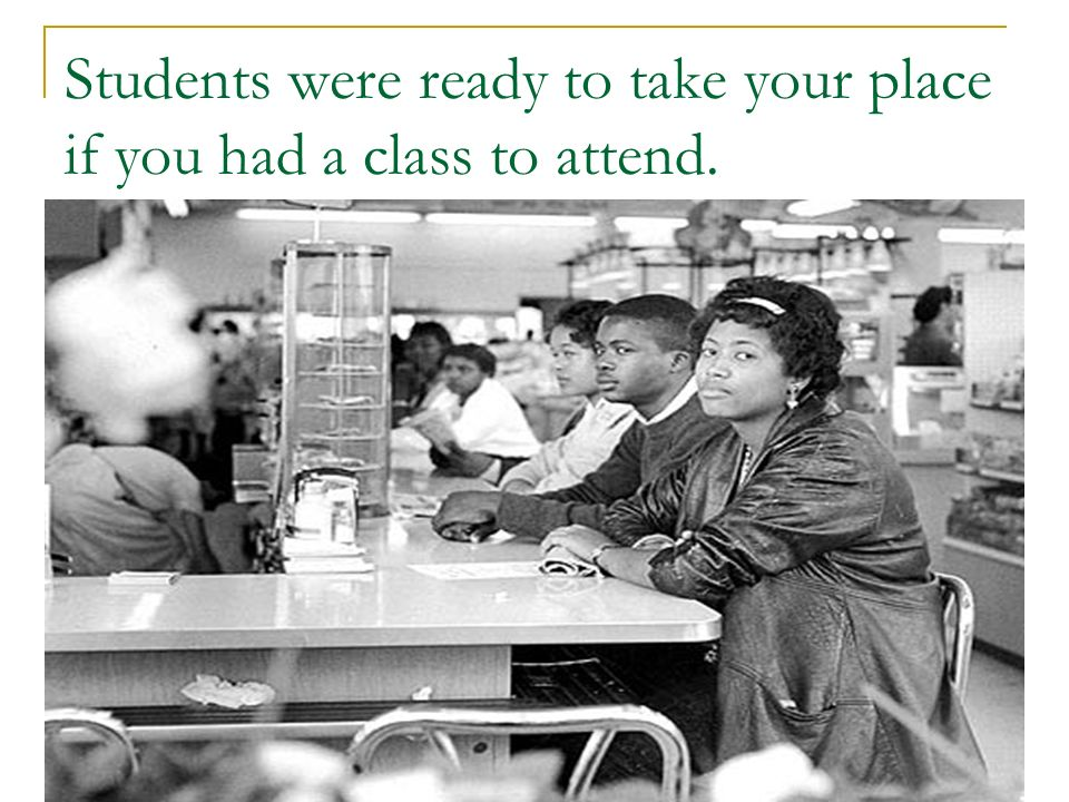 Students were ready to take your place if you had a class to attend.