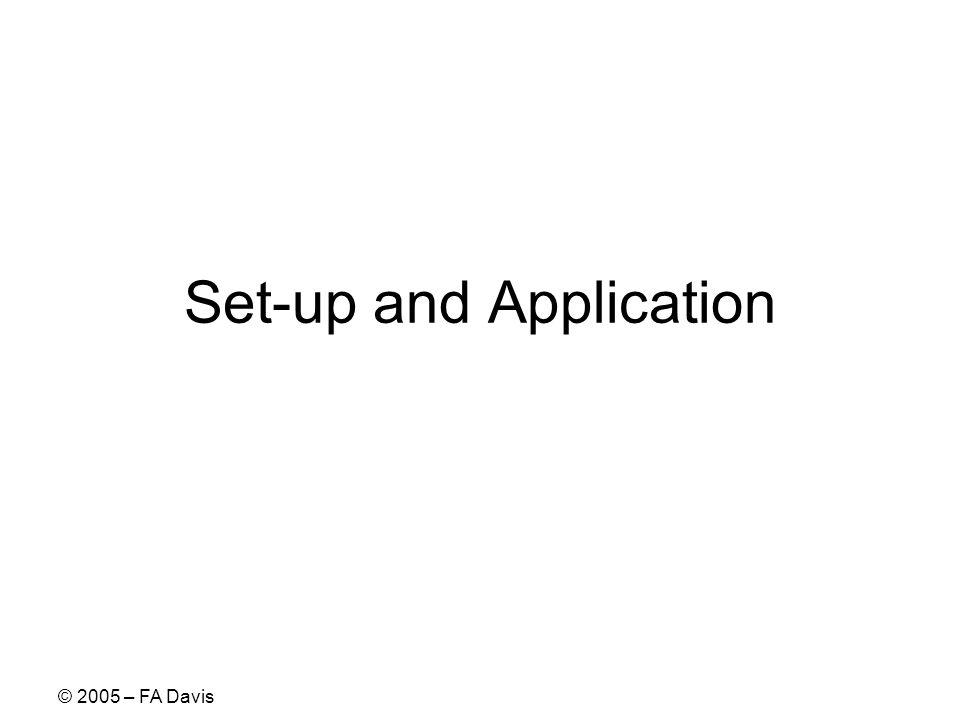 © 2005 – FA Davis Set-up and Application