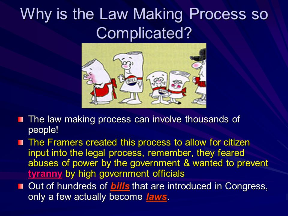 Influence of Pressure Groups Special Interest Groups, PACs (Political Action Committees), Lobbyists try to influence the law- making process. Business