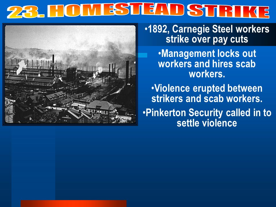 Picture: Workers vs Owner Americans were suspicious of labor unions because they tended to go against laissez faire and capitalism.
