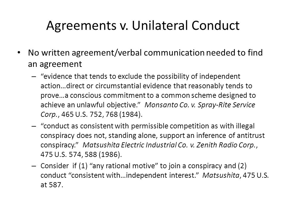 Agreements v.