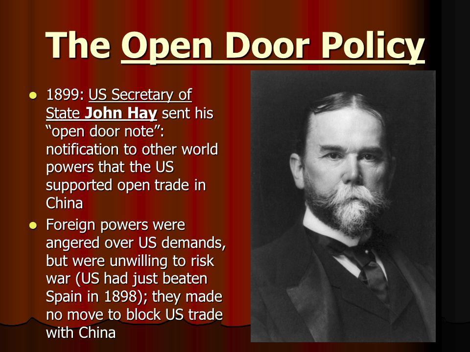 Open door policy 1899 magielinfo