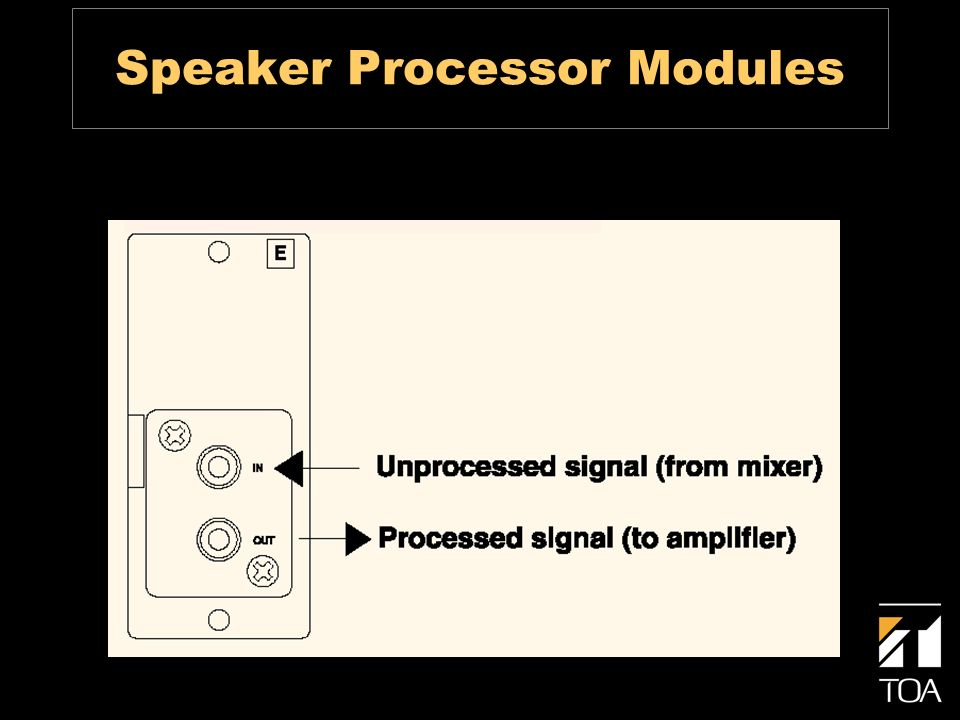 Speaker Processor Modules