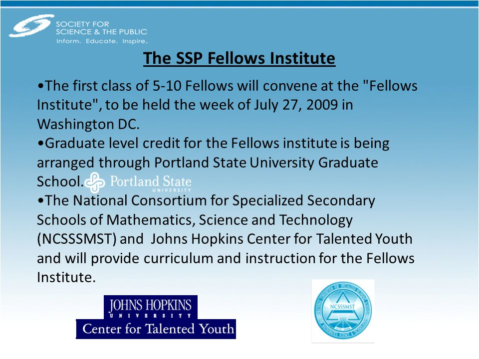 The first class of 5-10 Fellows will convene at the