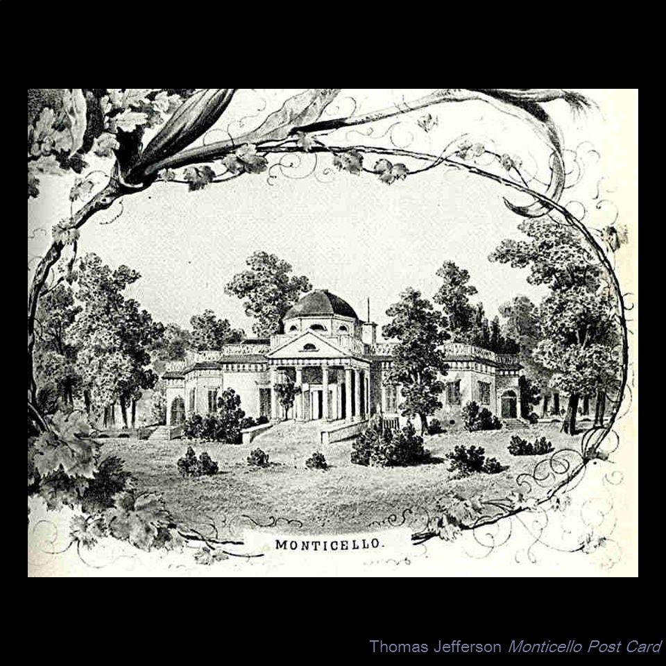 Thomas Jefferson Monticello Post Card