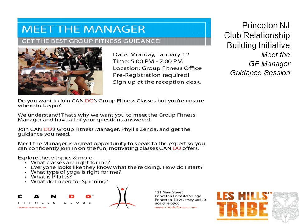 Princeton NJ Club Relationship Building Initiative Meet the GF Manager Guidance Session