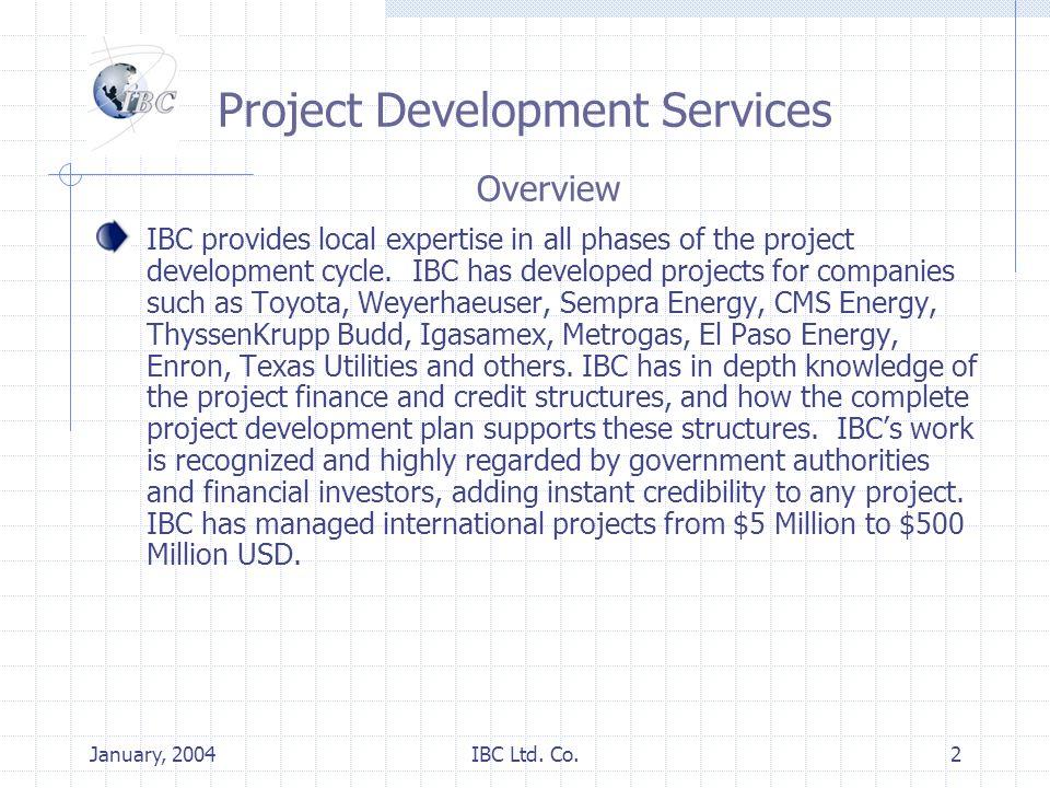 January, 2004IBC Ltd.