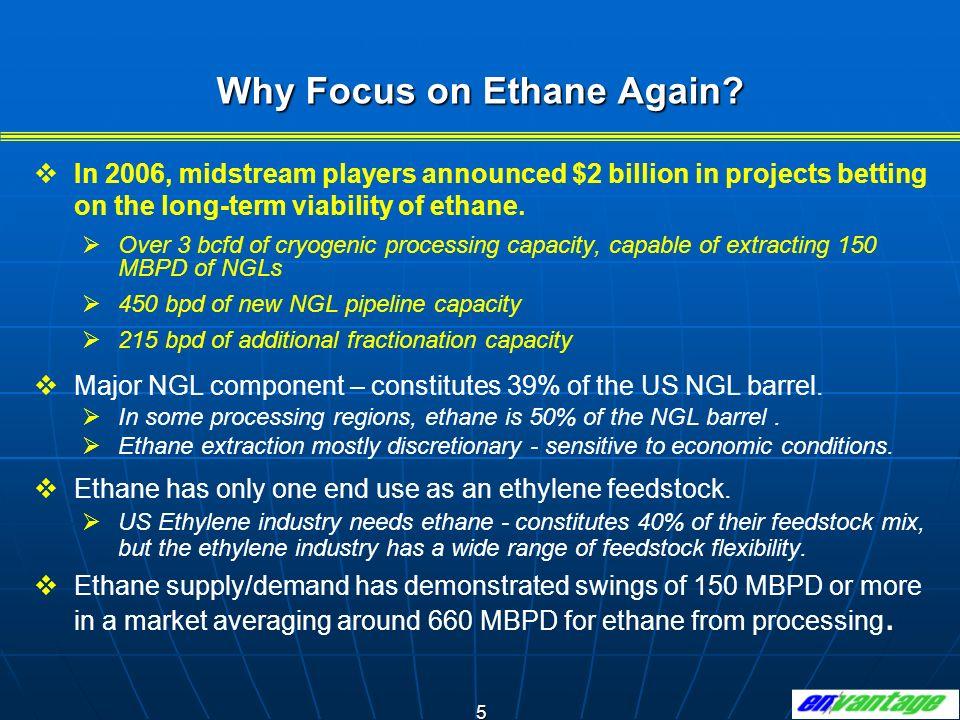 16 As ethylene production increases, ethane cracking increases and the flexibility to swing ethane usage diminishes.
