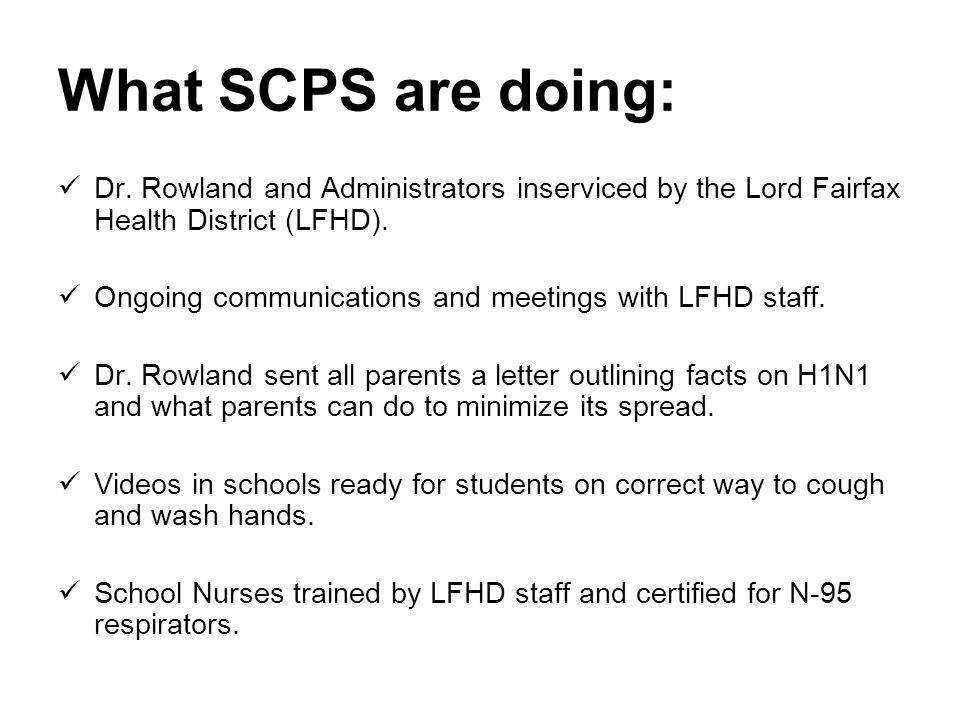 What SCPS are doing: Dr.
