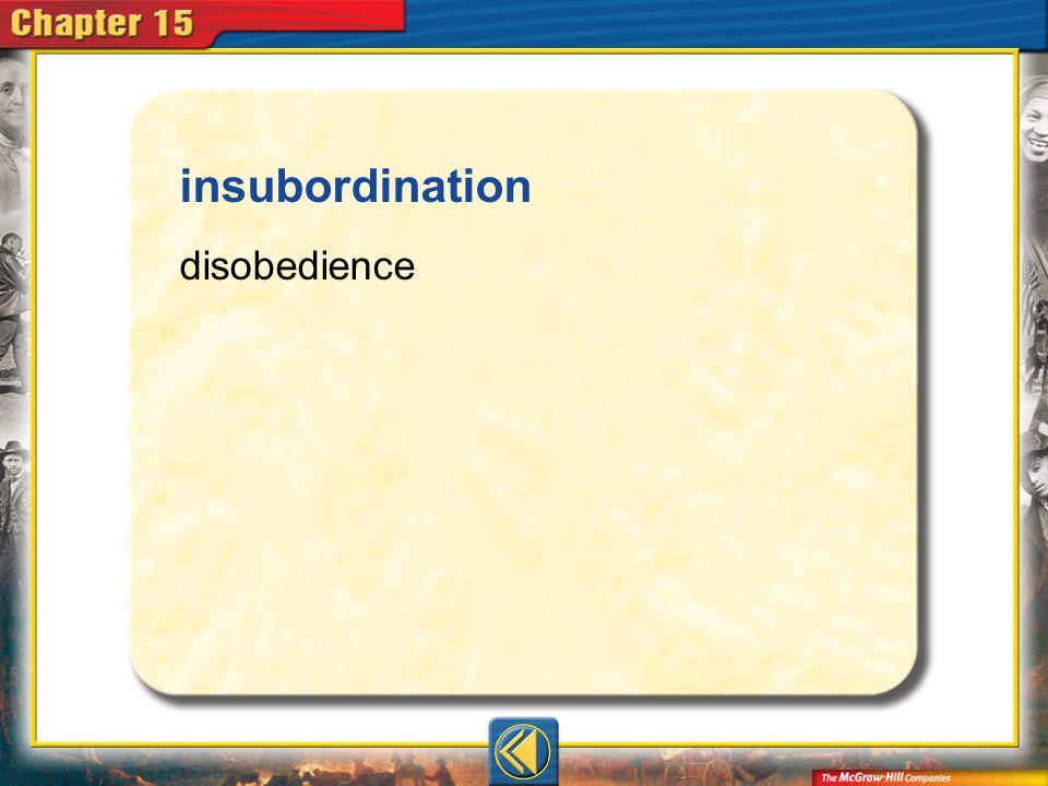 Vocab12 insubordination disobedience