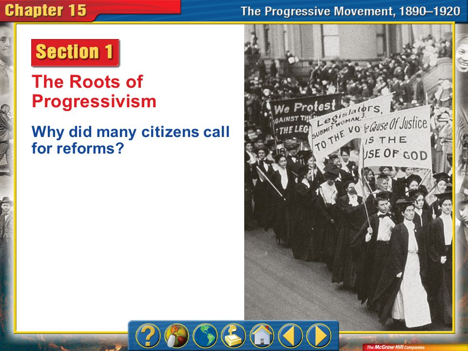 Chapter Intro 1 The Roots of Progressivism Why did many citizens call for reforms?