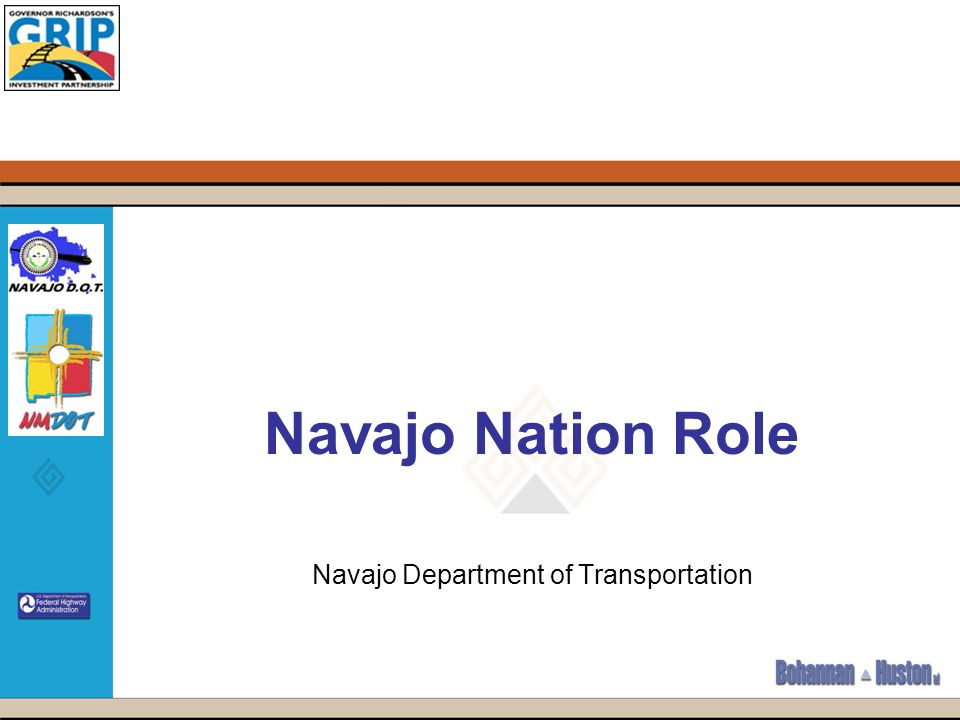 Navajo Nation Role Navajo Department of Transportation