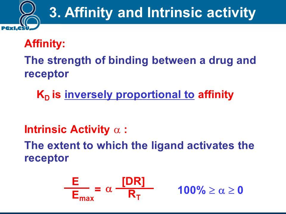 k1 D + R DR k2 By Law of mass action: [D][R]K 1 = [DR]K 2 Therefore K 2 /K 1 = K d = [D][R]/[DR] If R T = total # of receptors, then R T = [R] + [DR]