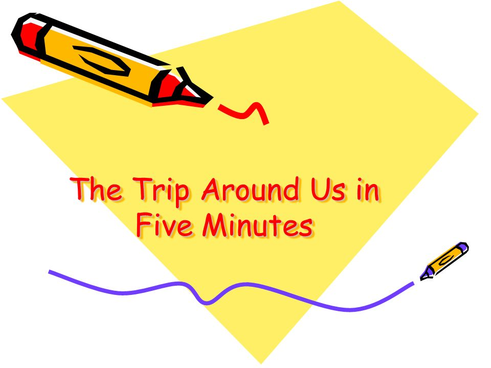 The Trip Around Us in Five Minutes