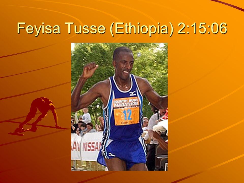 Feyisa Tusse (Ethiopia) 2:15:06