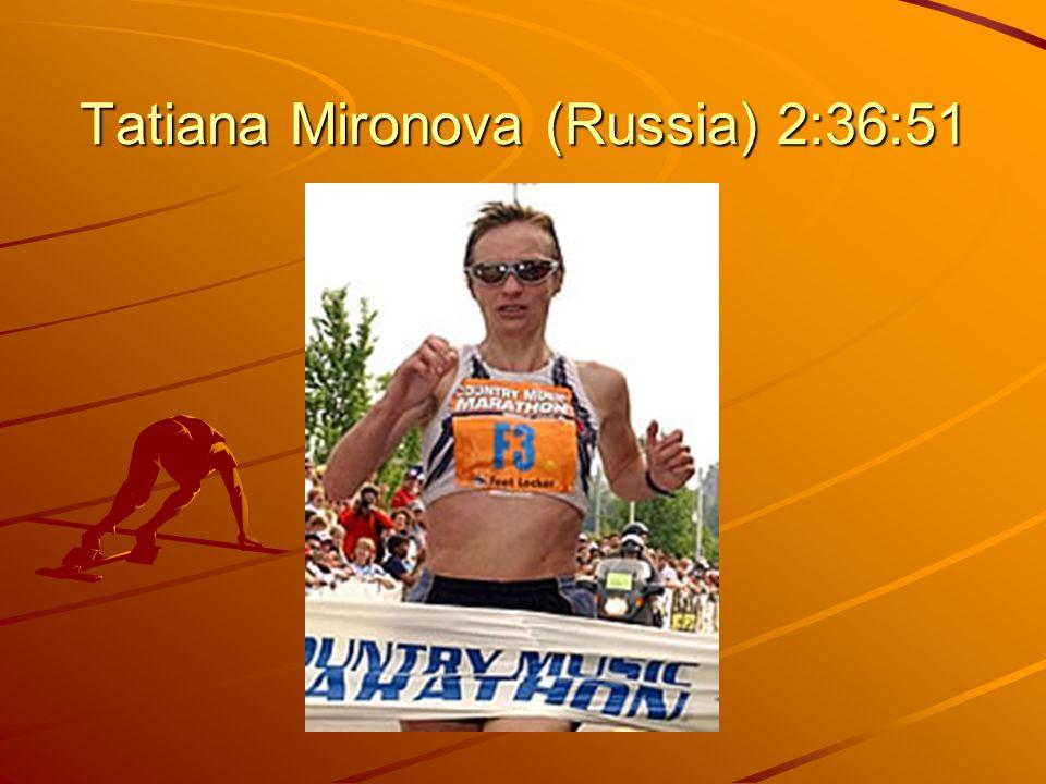 Tatiana Mironova (Russia) 2:36:51