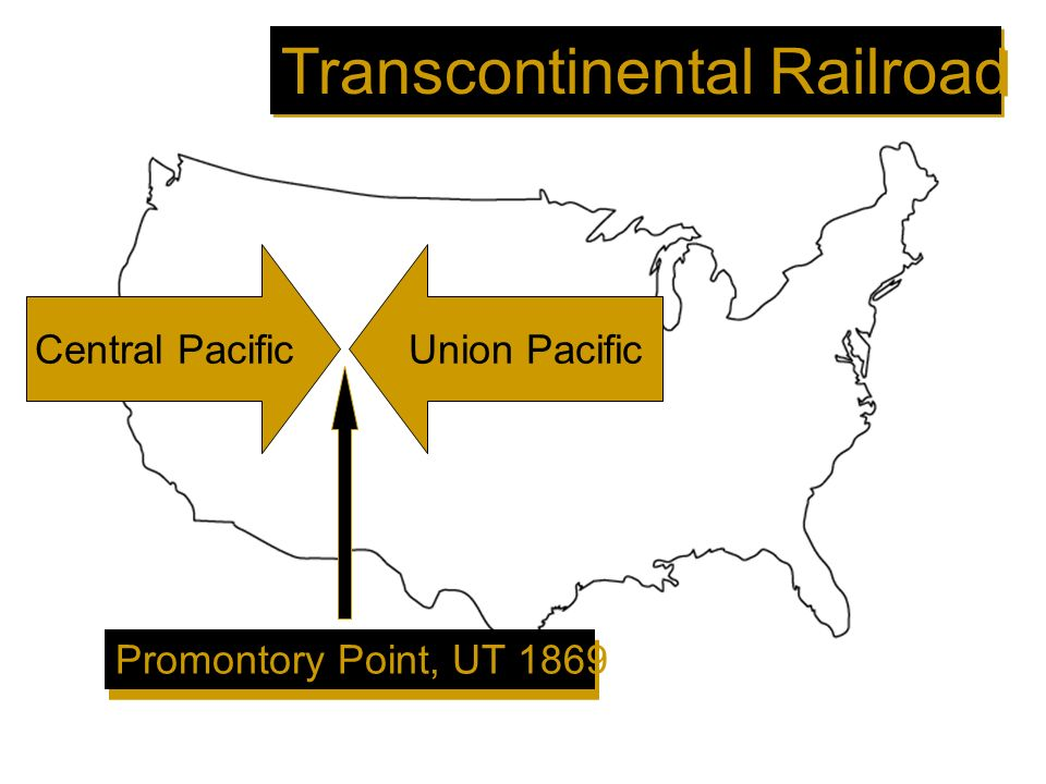 Central PacificUnion Pacific Promontory Point, UT 1869 Transcontinental Railroad