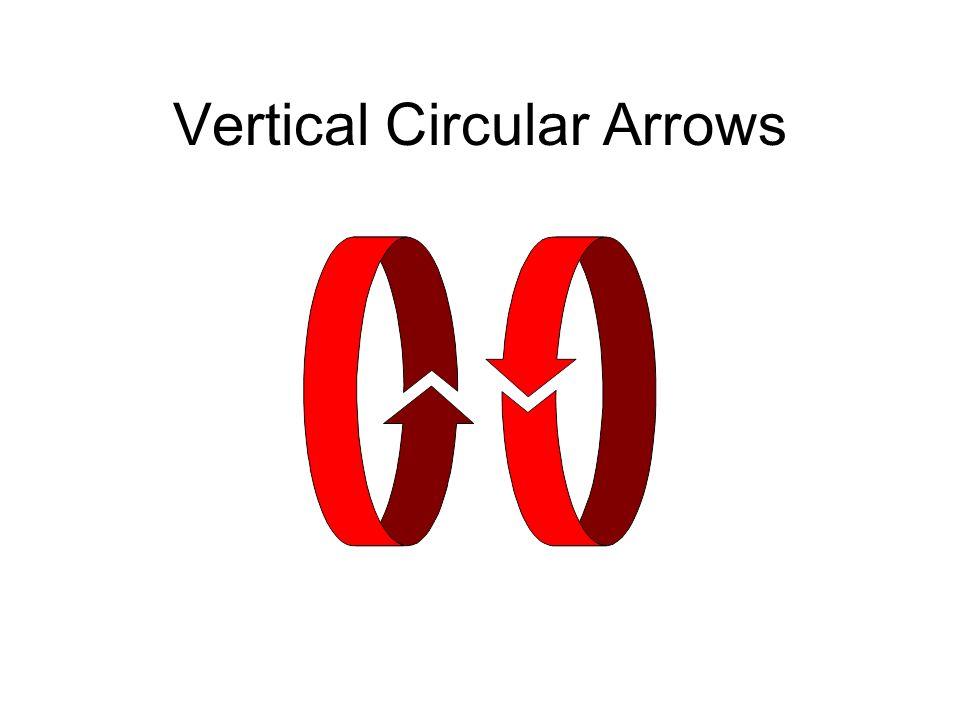 Vertical Circular Arrows