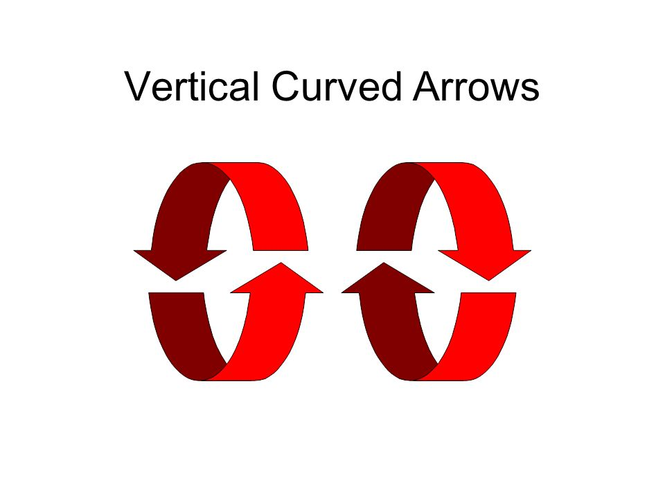 Vertical Curved Arrows