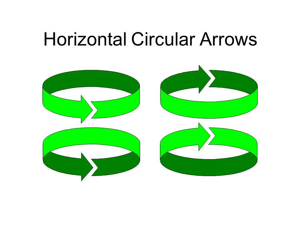 Horizontal Circular Arrows