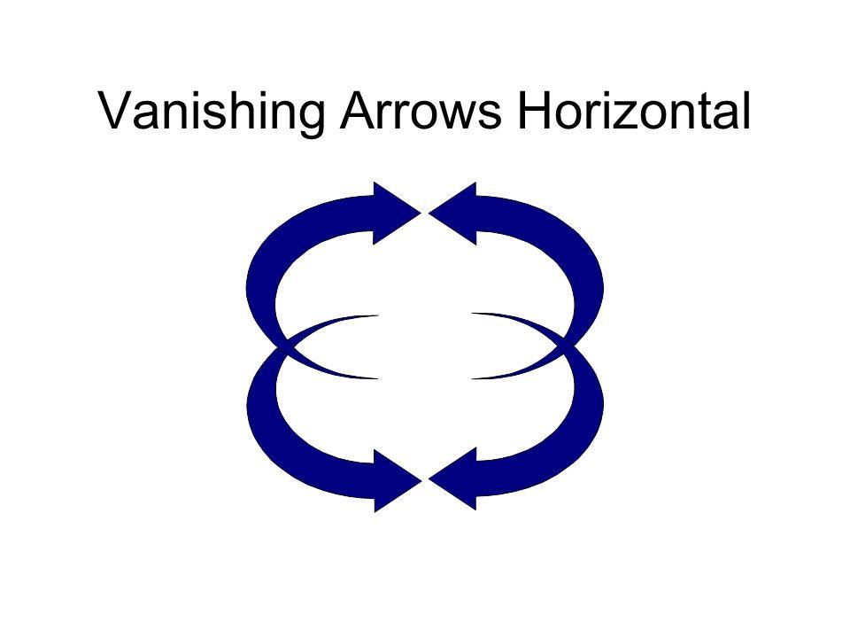 Vanishing Arrows Horizontal