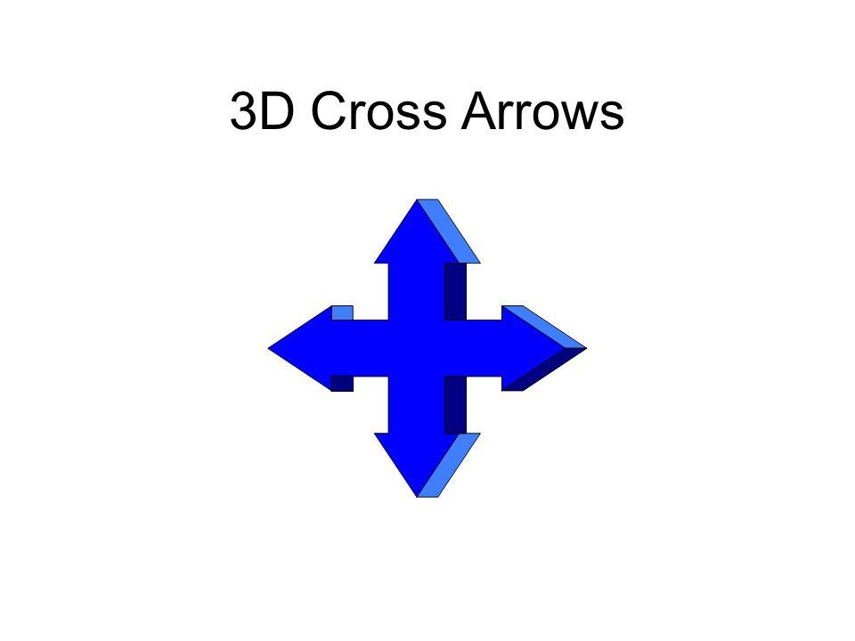 3D Cross Arrows