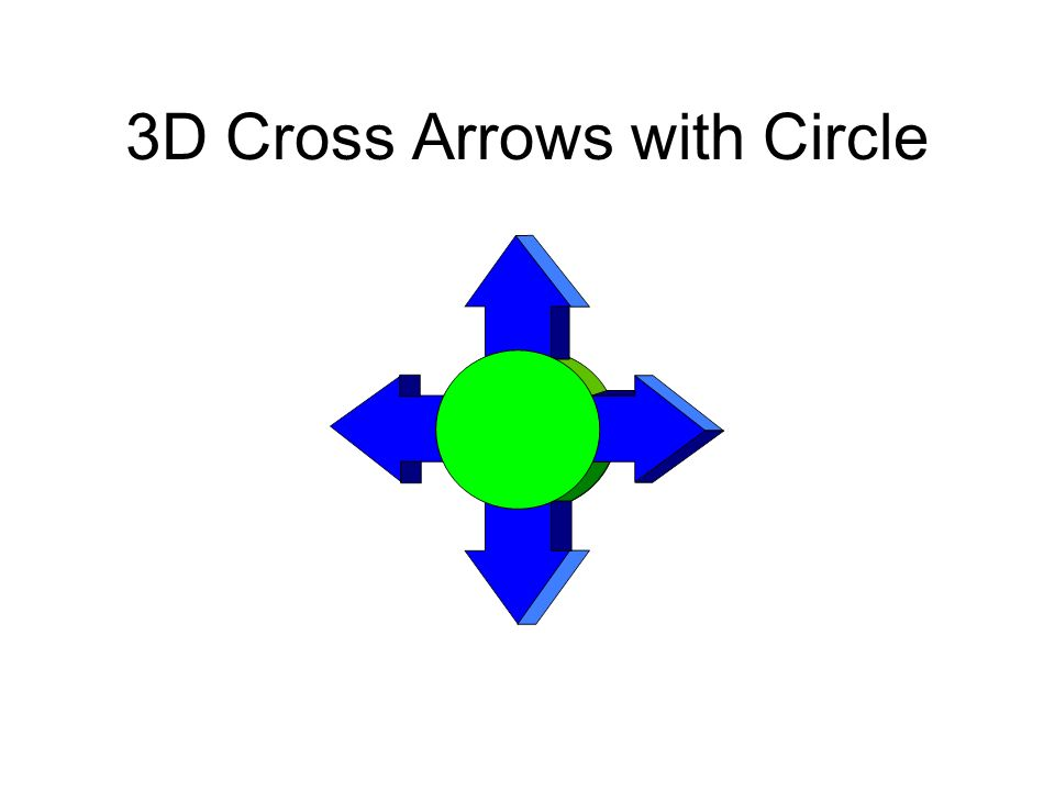 3D Cross Arrows with Circle