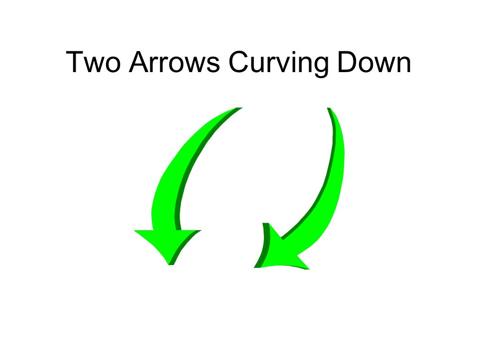 Two Arrows Curving Down