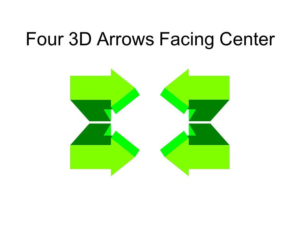 Four 3D Arrows Facing Center