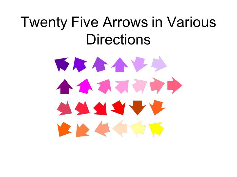 Twenty Five Arrows in Various Directions