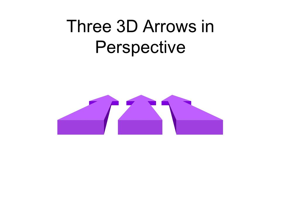 Three 3D Arrows in Perspective