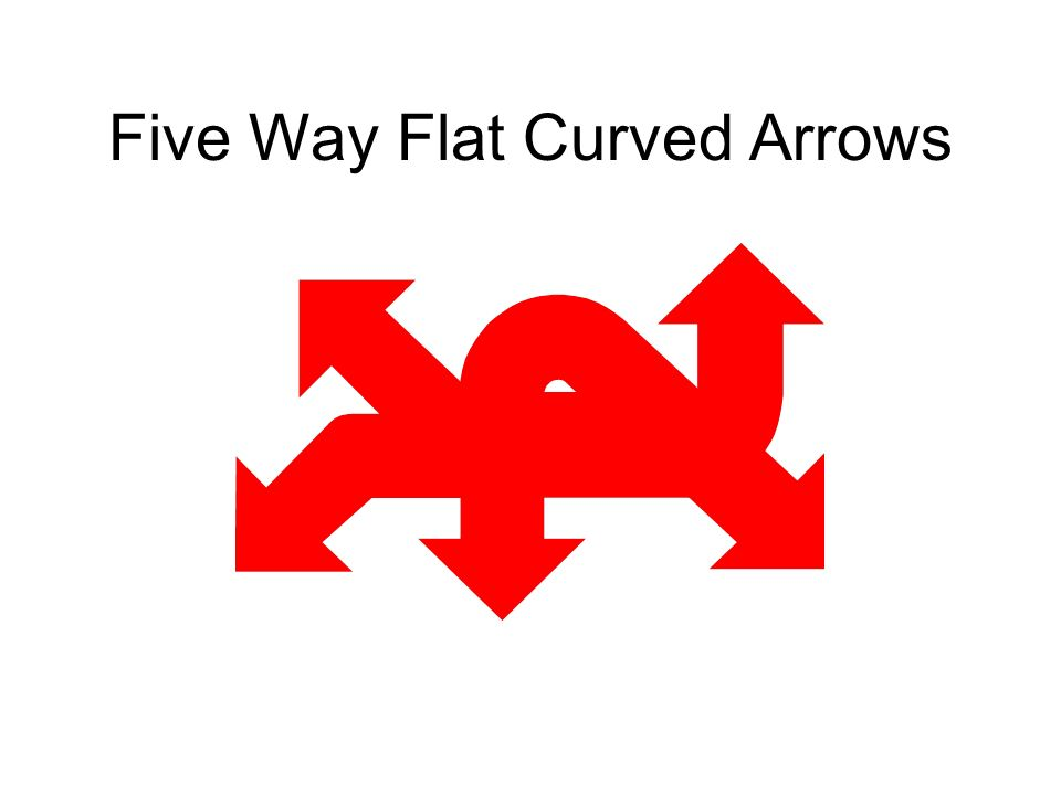 Five Way Flat Curved Arrows