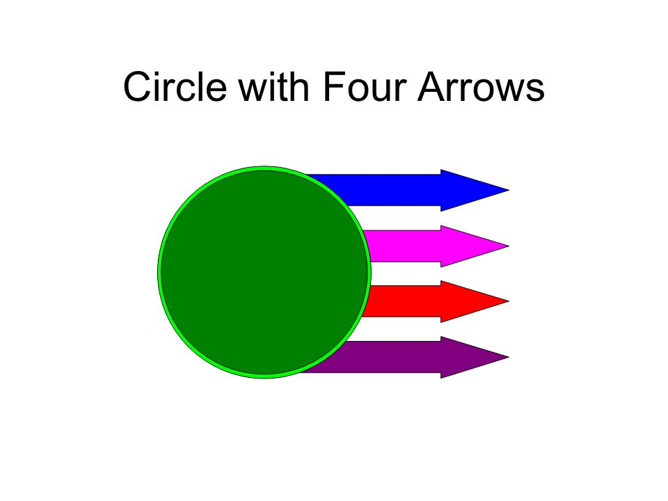 Circle with Four Arrows