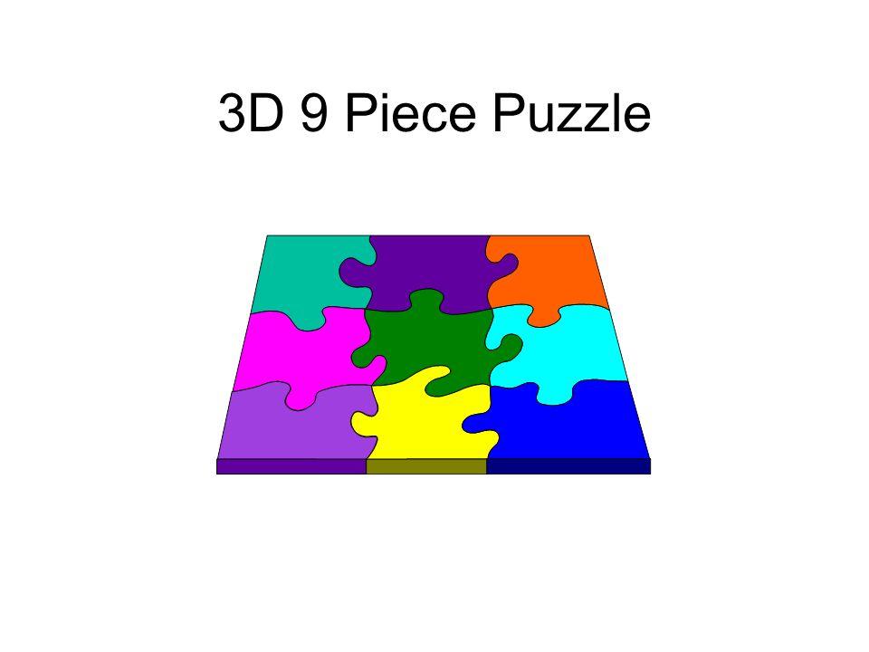 3D 9 Piece Puzzle