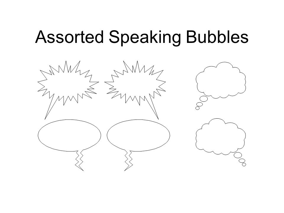 Assorted Speaking Bubbles