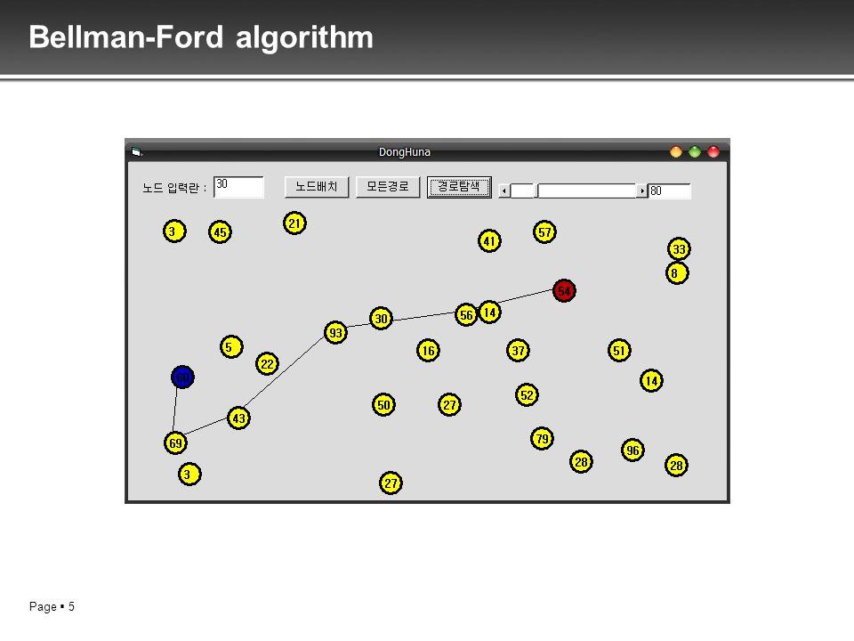 Page 5 Bellman-Ford algorithm