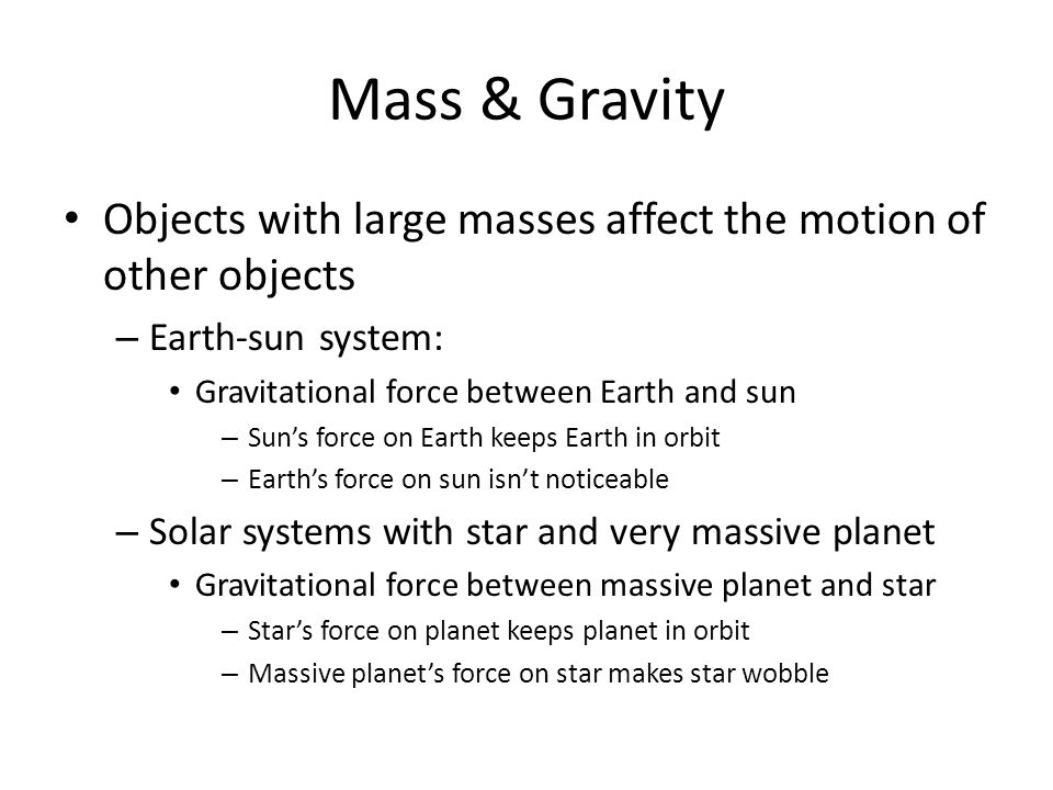 Mass & Gravity Q: Why dont we see all the objects around us moving toward each other.